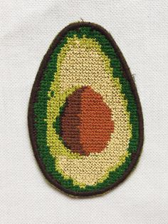Patch / Avocado / Embroidered / Sew on / Badge / by NewWoodsman