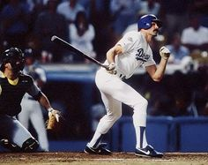 Los Angeles Dodgers over the Oakland A's in Game 1 of the 1988 World Series. An injured Kirk Gibson game off the bench in the 9th inning to face Oakland's Dennis Eckersley. Gibson's home run and the sight of him hobbling around the baes was an all-time baseball moment.