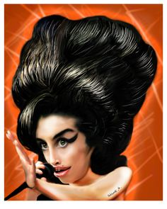 Celebrity Caricatures - Amy Winehouse