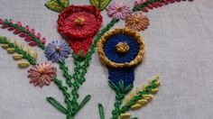 Embroidery ideas- Chamanthy stitch variation--Hand embroidery.