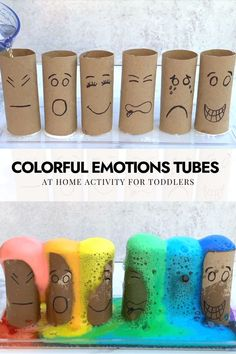 Emotions Preschool, Teaching Emotions, Emotions Activities, Fun Activities For Toddlers, Montessori Activities, Kindergarten Activities, Recycling Activities For Kids, Kid Experiments At Home, Colors For Toddlers