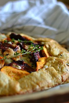 Bakeaholic Mama: Sweet Potato and Beet Galette with Gorgonzola Cheese and Thyme