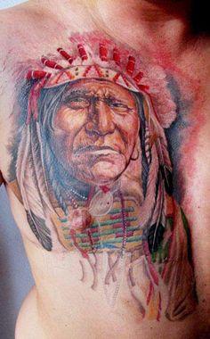 Realism Indians Tattoo by Miroslav Pridal - http://worldtattoosgallery.com/realism-indians-tattoo-by-miroslav-pridal/