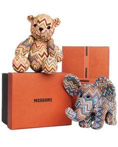 Missoni bear and elephant