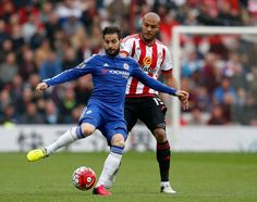 Cesc Fàbregas and Younes Kaboul: Sunderland 3-2 Chelsea - 7 May 16