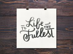 Life To The Fullest #theprmsprjct #etsy $16