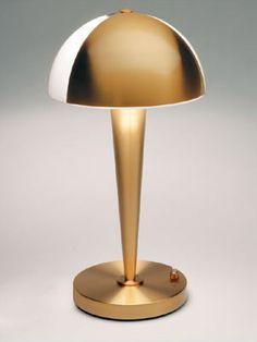 lampes classique années 30 PERZEL référence 934 VERNIS OR, ATELIERS JEAN PERZEL, France