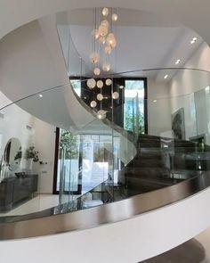Modern Mansion Interior, Dream House Interior, Luxury Homes Dream Houses, Luxury Homes Interior, Beautiful Houses Interior, Home Stairs Design, Home Room Design, Dream Home Design, Modern House Design
