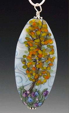 This Autumn Aspen glass bead pendant is handmade by local lampworking artist, Elise Strauss of Koi Creek Beadworks. Sold at the Anchorage Museum, and Artworks. $90. koicreekbeads.com