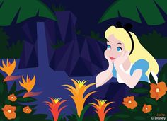Alice chats with the flowers at Disney's Polynesian Village Resort in today's Disney Doodle!