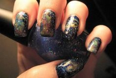This nail polish reminds me of space.