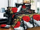 3D Duvet Cover Pillow Case Quilt Cover Bedding Set Noble Queen King Music Rose