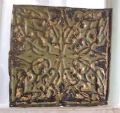Antique ceiling tile