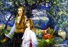 In the Hills Artwork by Leon Kroll Hand-painted and Art Prints on canvas for sale,you can custom the size and frame