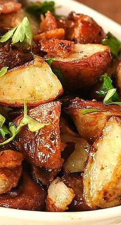 Balsamic Roasted Potato Salad - I liked these (just made the potatoes without the extras) but the BF didn't... too much vinegar, i cut the recipe so may not have done it well. -LoriB