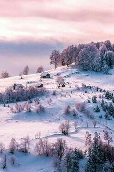 This reminds me of somewhere I once lived. Loved all the snowy hills. ##snow