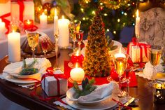 decorazioni party righe rosse natale - Cerca con Google