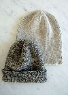 Looking for a go-to knitting pattern for simple, timeless, no-frills hats? This knit boyfriend hat pattern from Laura's Loop on The Purl Bee is pretty darn perfect.