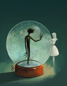 Artists Pay Tribute to Edward Scissorhands at Gallery Nucleus #illustration #art