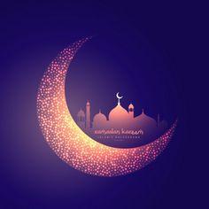 Creative moon and glowing mosque design Free Vector Photo Ramadan, Eid Ramadan, Ramadan Wishes, Ramadan Greetings, Motifs Islamiques, Ramadan Background, Eid Cards, Photos Hd, Galaxy Wallpaper