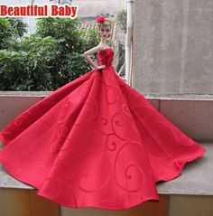 BArbie in Satin Red Gown