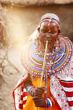 Nayiloang, a young Maasai woman, of Tipilit village in Kenya, dressed for her wedding day. // photo by Phil Lee Harvey