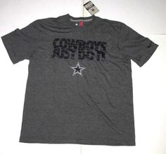 2aba3fa1e Nike Dallas Cowboys Just Do It Shirt Mens XL Dark Grey defect  Nike   DallasCowboys