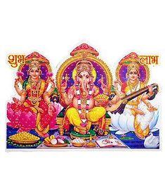 Lakshmi, Saraswati, Ganesha - Religious Sticker