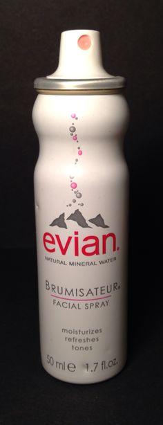 Evian BRUMISATEUR Facial Spray Retail $7.00 Add on price $2.50 OBO Vodka Bottle, Water Bottle, Makeup For Sale, Natural Mineral Water, Facial, Moisturizer, Retail, Ads, Moisturiser