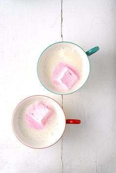 Vanilla Steamer with Rose-flavored Marshmallows