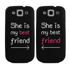 BFF Phone Covers She's My Best Friend Matching Cell Phone Cases for iphone 4, iphone 5, iphone 5C, Galaxy S3, Galaxy S4, Galaxy S5 in Black by 365 in love