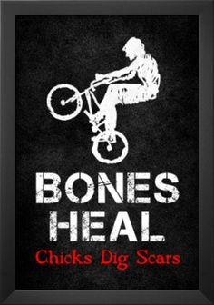 Bones Heal Chicks Dig Scars BMX Sports Poster Print Posters at AllPosters.com