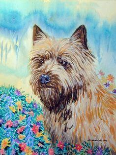 Cairn Terrier Giclee Fine Art Print by DogArtByLyn on Etsy, $19.94