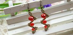 How to Make Simple Twist Red Bead Earrings