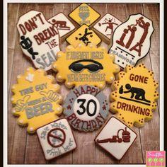 Beer 30th Birthday Cookies www.trufflepopshoppe.com