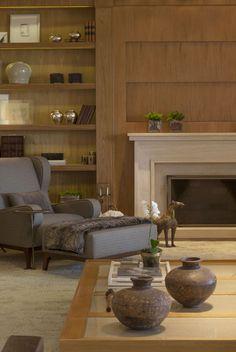 Um lar no campo em tons de bege Espaços confortáveis e elegantes para receber