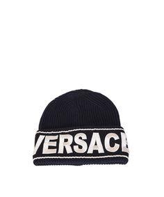f9ca984d697 VERSACE Versace Women s Blue Wool Hat.  versace
