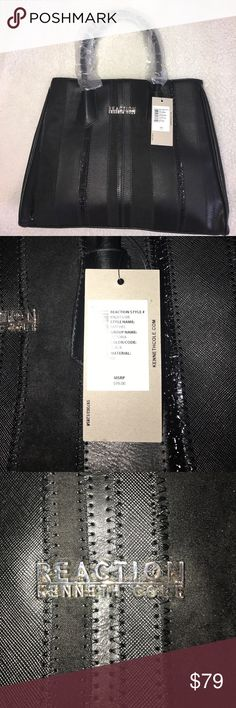 Kenneth Cole Reaction Black Victoria Satchel New 4x10.5x13 Kenneth Cole Reaction Bags Satchels