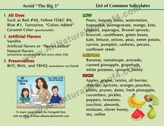 """""""Avoid the Big 3"""" Refrigerator Magnet 