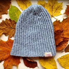 Is your head ready for autumn? ;) #queenzoja #knitted #cap #blue #soft #warm #cotton #wool #knit #knitting #handmade #eco #fairtrade #slowfashion #fashion #kidsfashion #autumn #fall #winter #leaves