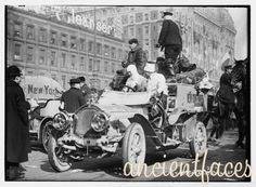 The Great Race de Dion Car  The Great Auto Race New York to Paris, 1908. This is the de Dion (French) car.