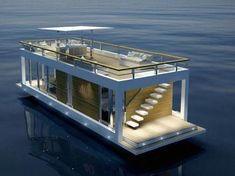 Floating Architecture, Architecture Design, Sustainable Architecture, Residential Architecture, Contemporary Architecture, Houseboat Living, Water House, Boat House, Floating House