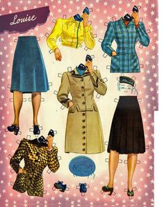 GIRLS IN THE WAR, Turnabout Dolls by Merrill Publishers LOUISE  6 of 16