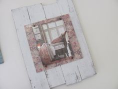 White Washed Up Cycled Reclaimed  Wood Plank Picture Frame - Pottery Barn Inspired - Home Decor - Rustic - Shabby Chic. $46.00, via Etsy.