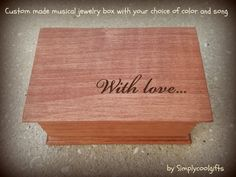 music box custom made music box musical jewelry by Simplycoolgifts