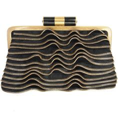 Yves Saint Laurent Zipper Clutch | From a collection of rare vintage handbags and purses at https://www.1stdibs.com/fashion/accessories/handbags-purses/
