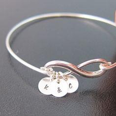 3 Best Friend Bracelet Infinity Friendship by FrostedWillow