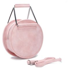 Yoins Artificial Leather-look Handbag in Pink ($36) ❤ liked on Polyvore featuring bags, handbags, pink, imitation handbags, faux leather bag, pink hand bags, faux-leather handbags and faux purses