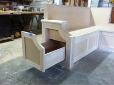Kitchen bench seating with storage.