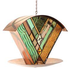 Artist Julie Kelly's Celebrity Stained Glass Bird Feeder